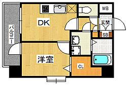 YGM博多[6階]の間取り