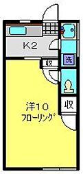 木下荘[7号室]の間取り