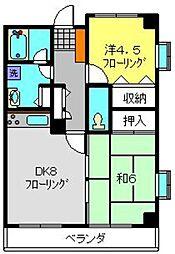 神奈川県横浜市旭区都岡町の賃貸マンションの間取り