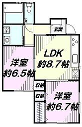 JR青梅線 福生駅 バス8分 あきる野市民球場下車 徒歩5分の賃貸アパート