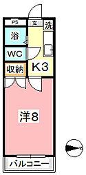 エトワール21新倉[601号室]の間取り