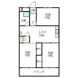 五反田アパート[404号室]の間取り