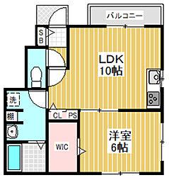 東京都中野区若宮3丁目の賃貸アパートの間取り