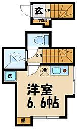 avancer成城a棟 2階ワンルームの間取り