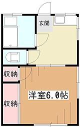 野口コーポ[1階]の間取り