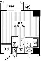 東京都豊島区千早4丁目の賃貸マンションの間取り