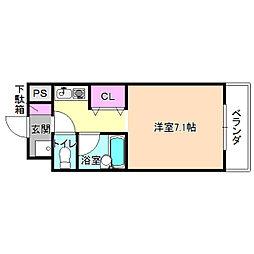 第2ハートビル[3階]の間取り