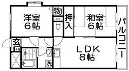 プライムハイム[2階]の間取り