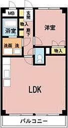 林田マンション[305号室]の間取り