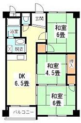 初芝マンション[4階]の間取り