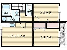 コスモハイツセブン[2階]の間取り