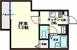 アーバンスクエア川崎[203号室]の間取り