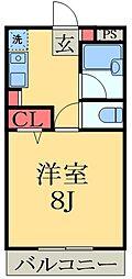 ヒルズ・オキマンション[2階]の間取り