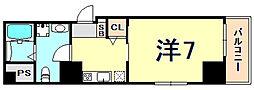 アルファ神戸元町 6階1Kの間取り