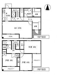 [一戸建] 東京都世田谷区上馬3丁目 の賃貸【/】の間取り