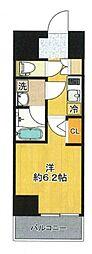 SHOKEN Residence 新丸子 2階1Kの間取り