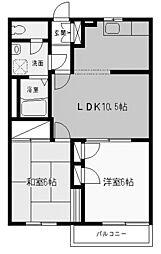 神奈川県川崎市多摩区東生田3丁目の賃貸アパートの間取り