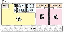 ハイクレスト光善寺[2階]の間取り