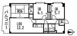 フォンティーヌ[1階]の間取り