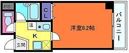 兵庫県神戸市中央区吾妻通2丁目の賃貸マンションの間取り