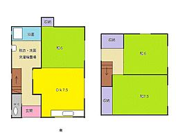 [一戸建] 福岡県福岡市早良区飯倉7丁目 の賃貸【/】の間取り