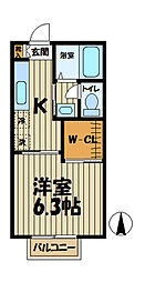 インプレス鎌倉III[205号室]の間取り