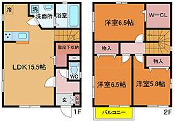 [一戸建] 千葉県柏市大塚町 の賃貸【/】の間取り