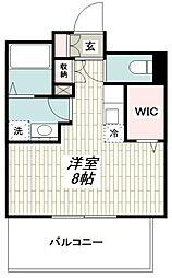 JR横浜線 十日市場駅 徒歩7分の賃貸マンション 3階ワンルームの間取り