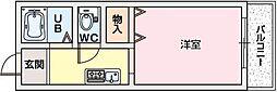 フラットAZ[1階]の間取り