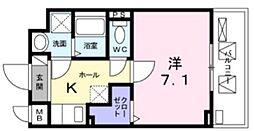 Ark Palace 2階1Kの間取り