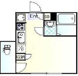 メゾンドオーブ 1階ワンルームの間取り