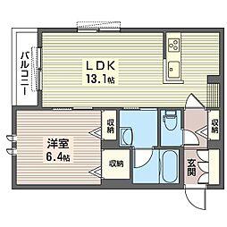仮)中野区鷺宮5丁目シャーメゾン 2階1LDKの間取り