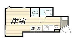 (仮)高松2丁目新築計画 1階ワンルームの間取り