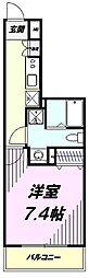 多摩都市モノレール 上北台駅 徒歩1分の賃貸マンション 3階1Kの間取り