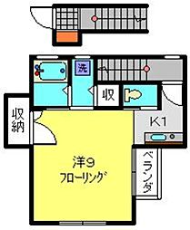 神奈川県横浜市南区蒔田町の賃貸アパートの間取り