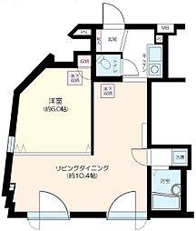 ラグジュアリーアパートメント若林CQ[1階]の間取り