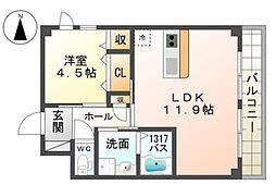 (仮)引野町新築アパート[1階]の間取り