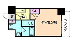 ディームス江坂[12階]の間取り