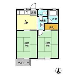 コーポミユキ[2階]の間取り