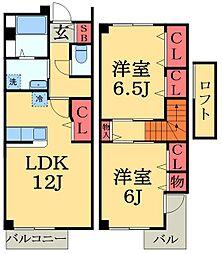[テラスハウス] 千葉県市原市西五所 の賃貸【/】の間取り