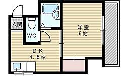 松茂マンション[2階]の間取り