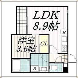 千葉県千葉市中央区道場南1丁目の賃貸アパートの間取り