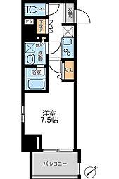 JR京浜東北・根岸線 横浜駅 徒歩8分の賃貸マンション 10階1Kの間取り
