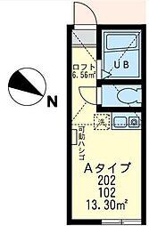 神奈川県川崎市宮前区菅生ケ丘の賃貸アパートの間取り