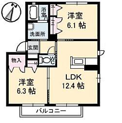 メゾンM B[2階]の間取り