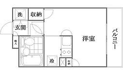 ワコーレ西新井II[1階]の間取り