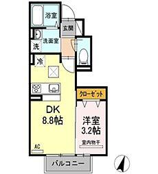 Square Villa 福島[102号室]の間取り