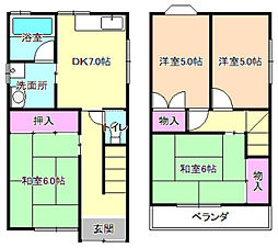 [一戸建] 大阪府枚方市春日東町2丁目 の賃貸【/】の間取り