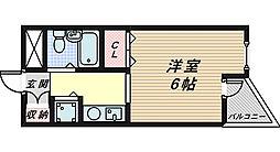 ジョイフル堺[3階]の間取り