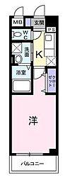 JR南武線 武蔵新城駅 徒歩8分の賃貸マンション 1階1Kの間取り